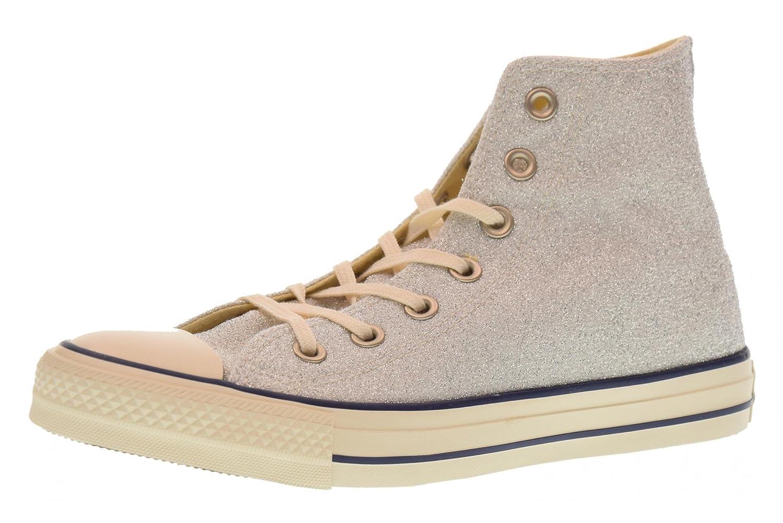 Converse Hohe Frauen Hohe Converse Schuhe Turnschuhe 560951C Silber 5a4db0