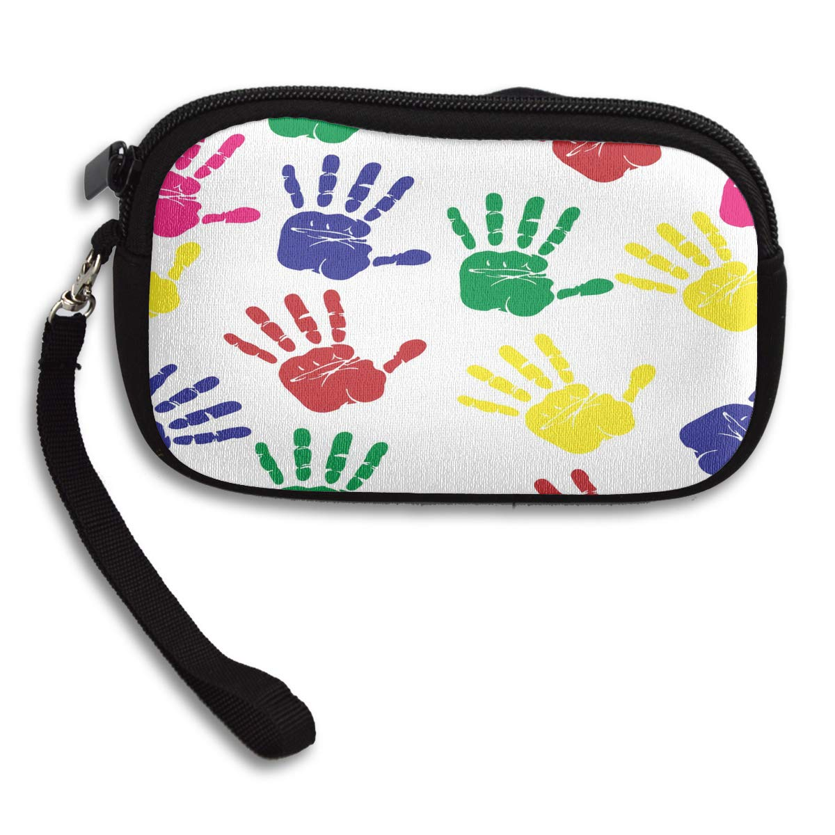 Small Purse Hand Prints Colorful Special Coin Wallets for Women