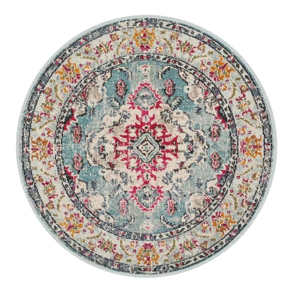 Retro Runde Teppiche für Wohnzimmer Schlafzimmer Garderobe Küche Wasserdicht Rutschfeste American Style Teppich (Farbe    5, größe   Diameter 200cm)
