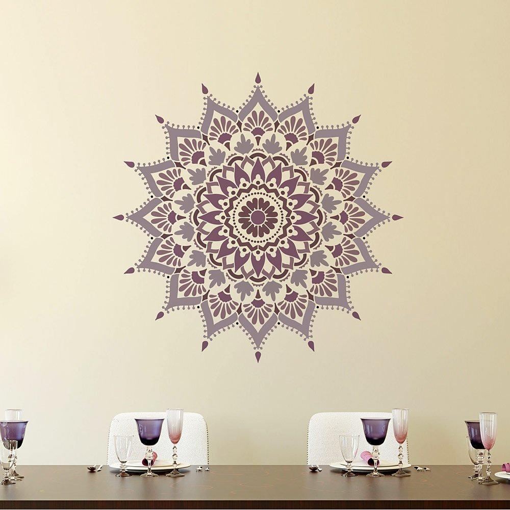 Mandala Stencil Radiance - Trendy Easy Beautiful DIY Wall Stencil Designs - Reusable Stencils for DIY Home Decor - By Cutting Edge Stencils (44'') by Cutting Edge Stencils (Image #7)