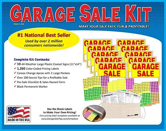 Amazon.com: Kit de cartel de venta de garaje con etiquetas ...