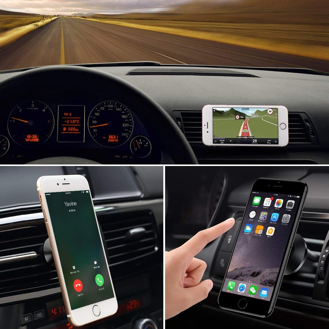 iPhone Xs//XS Max//XR //X//8//7//6 Red 4351550975 LG MKOAWA Magnetic Phone Car Mount Vent 360/° Rotation Cell Phone Holder for car Phone Holder for Samsung Galaxy Note 9 S9//S9+ Plus//S8//S8+ Plus//S7 GPS and More