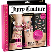 Make It Real - Juicy Couture Pink and Precious Bracelets - DIY Charm Bracelet Kit with Beads for Tween Jewelry Making - Jewelry Making Kit for Girls