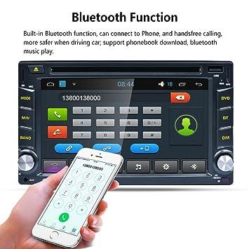 ularma androide WiFi GPS NAV coche en tablero de planificación DVD USB/SD/AUX/Cd/Mp3 reproductor de 6.2 Doble Din FM: Amazon.es: Electrónica