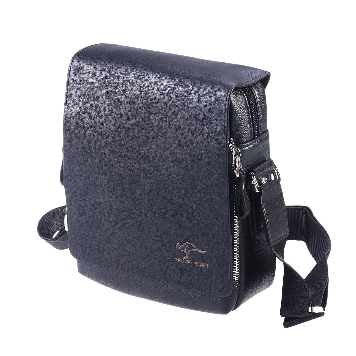 919b7ad5c833 Men's Vertical PU Shoulder Bag Messenger Bag gifts for men - Size M ...