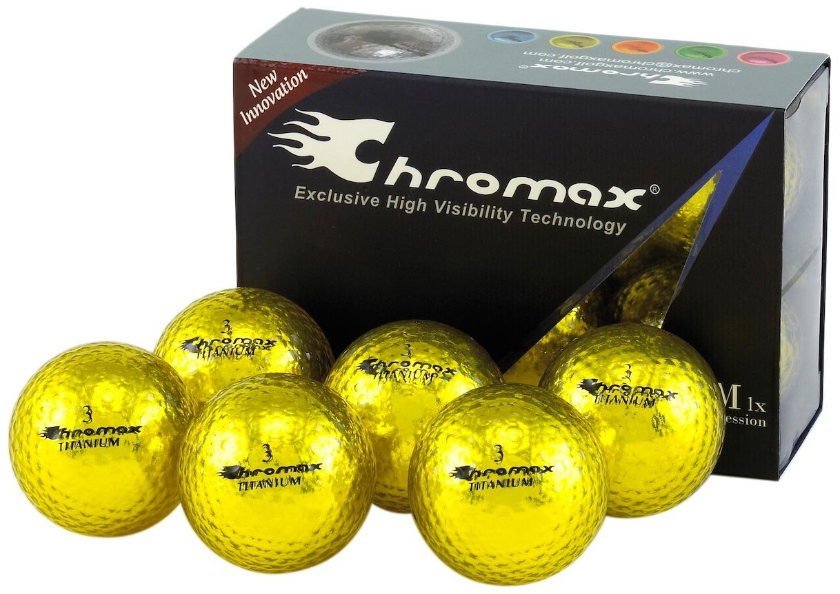 Chromax m1 X highly-visible Balls (古いバージョン) B0030L3GZ2 ゴールド