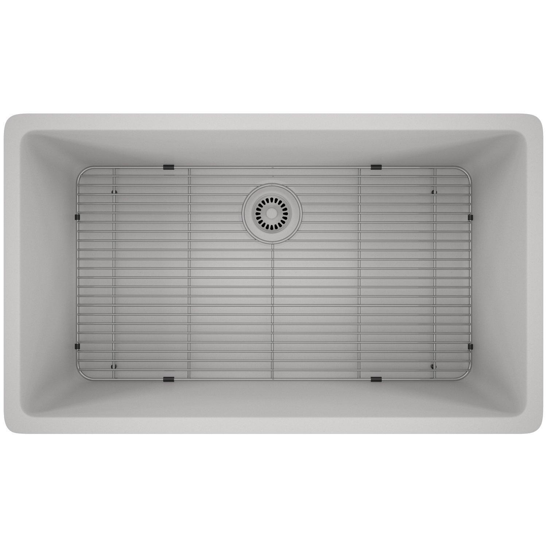 Lexicon Platinum Quartz Composite Kitchen Sink – Large Single Bowl LP-1000 White