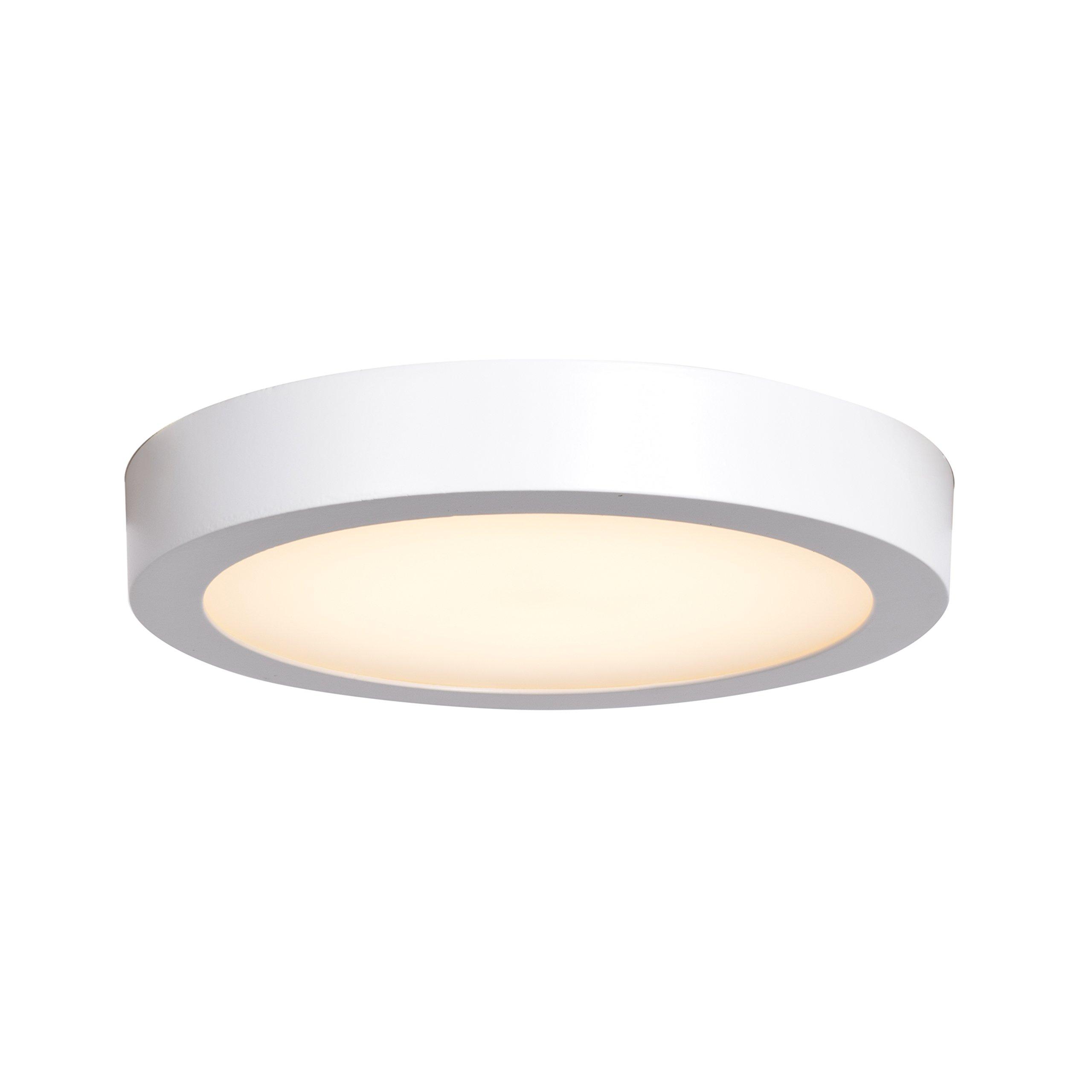 Ulko Exterior LED Outdoor Flush Mount - 9'' D - White - Acrylic Lens Diffuser