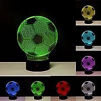 Linkax Veilleuse LED 3D Lampe Optique Illusion Veilleuse Enfant Lampe de nuit pour Chambre Chevet Table de Fille Fils Cadeau Anniversaire Surprise Deco Ambiance Créatif avec Câble USB et Télécommande