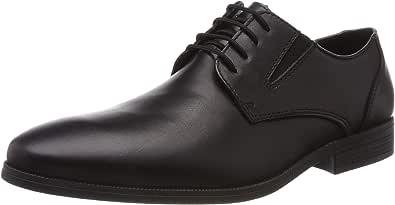 Rieker 11614-00 Obermaterial Leder, Zapatos de Cordones Derby Hombre
