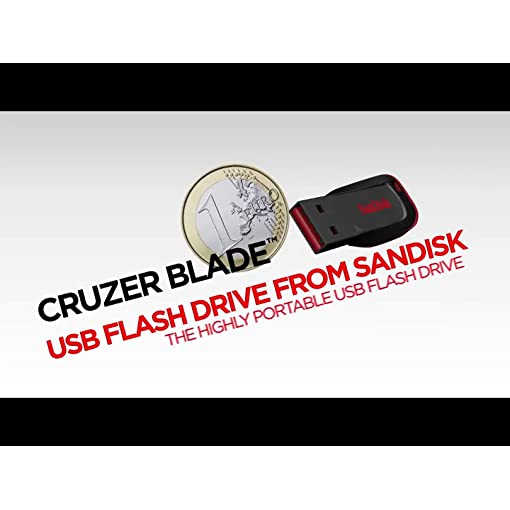 SanDisk SDCZ50-064G-B35 64 GB Cruzer Blade USB 2.0 Flash Drive – Black ( Standard Packaging )