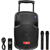 "MDR Electronics MX 10"" MX 3710 Multimedia Trolley Bluetooth Speaker With USB Aux Input Wireless Microphone"