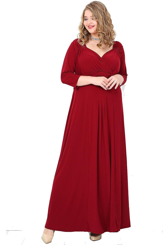 Damen Kleid Abendkleid Empire MAXI Designer Cocktailkleid ...