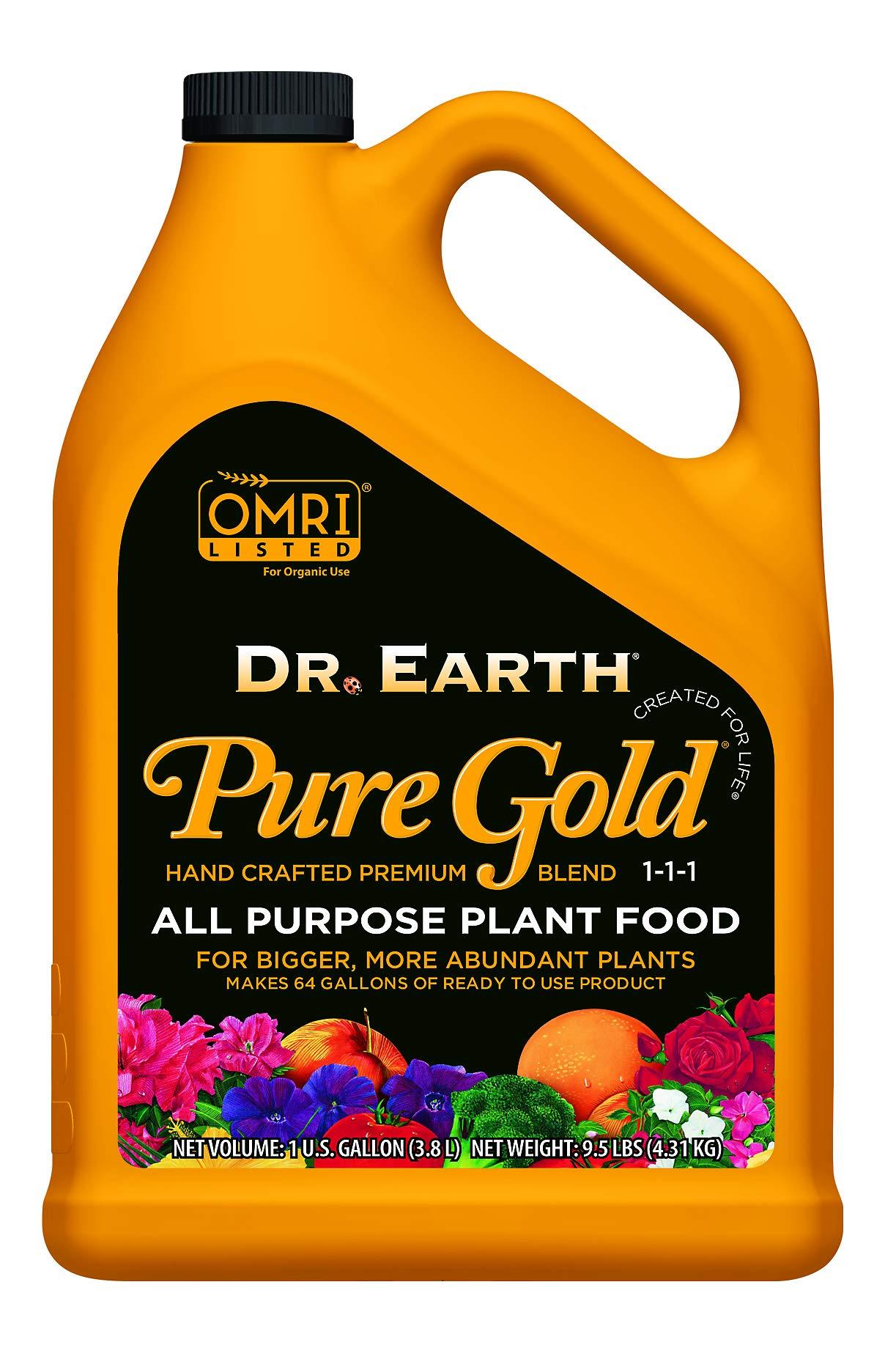 Dr. Earth Liquid Pure Gold All Purpose Fertilizer 1 Gallon by Dr. Earth (Image #1)