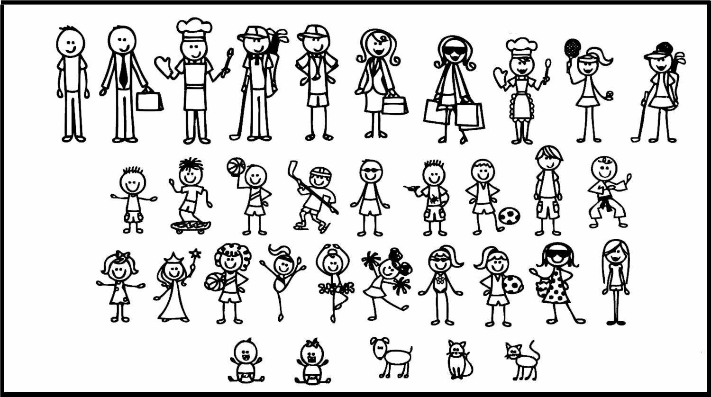 amazon com nepa designs 34 stick figure family funny vinyl decal