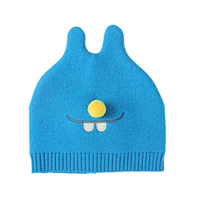 ShiningLove Lovely Newborn Baby Cotton Hat Cute Pom Ball Mouse Pattern Breathable Cap