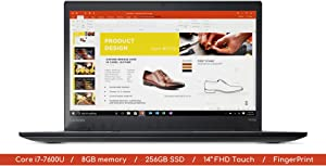 "Lenovo T470s Laptop | 14.0"" FHD (1920x1080) MultiTouch IPS Screen with Webcam 