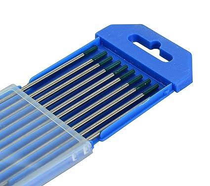 """Soldadura TIG pura Electrodos tungsteno Verde WP 2,4mm x 175mm & 3/32"""""""