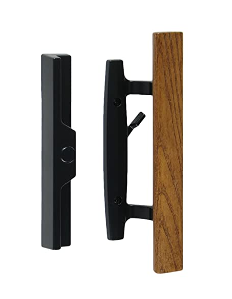 Lanai Sliding Glass Door Handle and Mortise Lock Set with Oak Wood ...