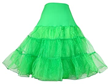 Dance Fairy Tutu enagua falda de crinolina rockabilly de los aos 50 de la vendimia verde