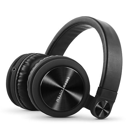 Energy Sistem DJ2 - Auriculares con micrófono Integrado en el Cable (rotación 180º, Flip-Up, Cable extraíble, Control Talk, Plegable), Color Negro: ...