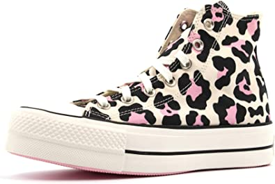 cruzar pizarra Y así  Converse Chuck Taylor All Star Hi Femme Baskets Mode Naturel: Amazon.fr:  Chaussures et Sacs