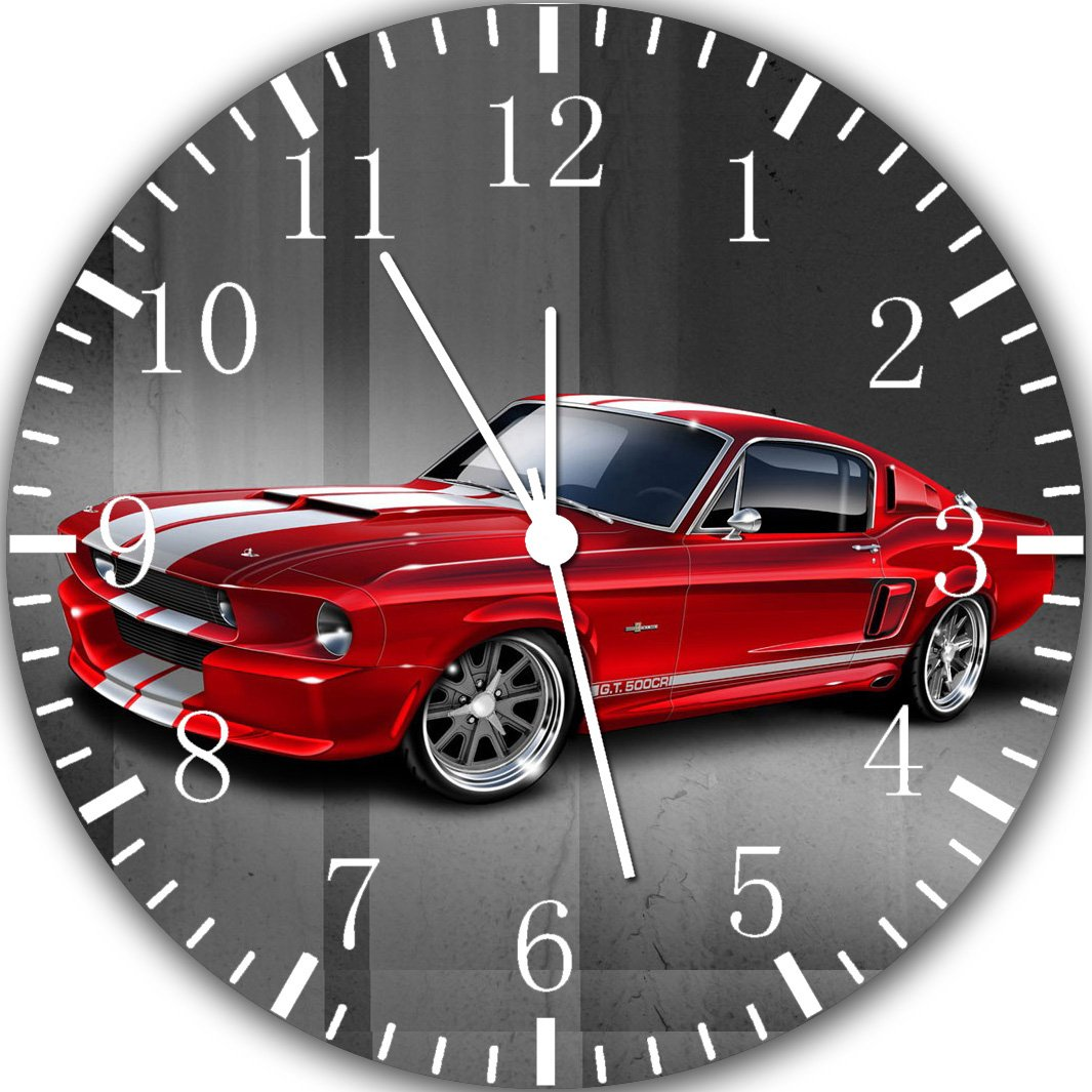 Old Classic Mustang Frameless Borderless Wall Clock Y118 Nice For Gift or Room Wall Decor