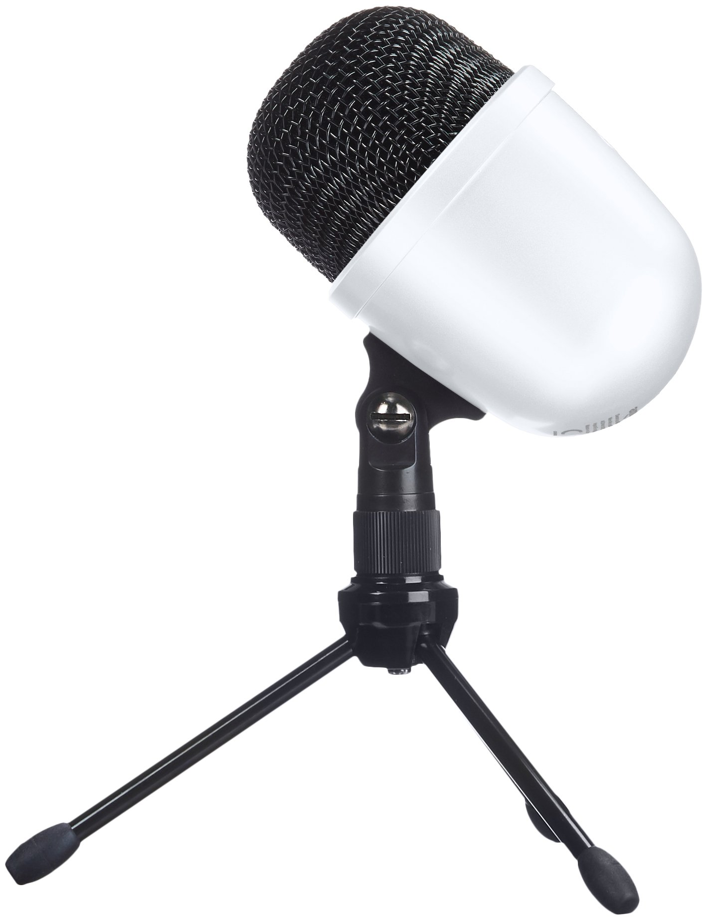 AmazonBasics Desktop Mini Condenser Microphone - White