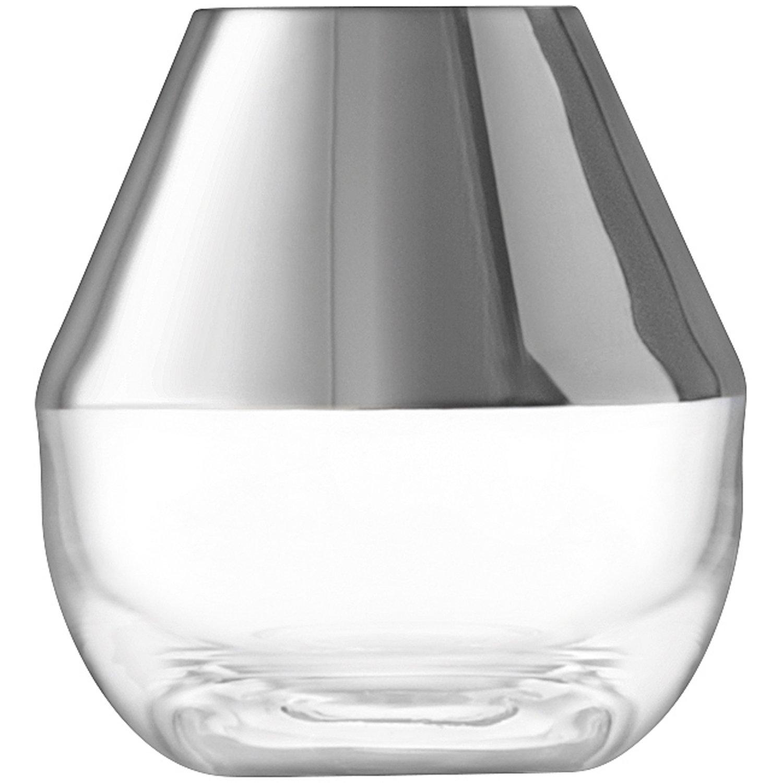 LSA フラワーベース花器 Platinum W12xD12xH18cm LFM09 B074TCNFXV W12xD12xH18cm W12xD12xH18cm