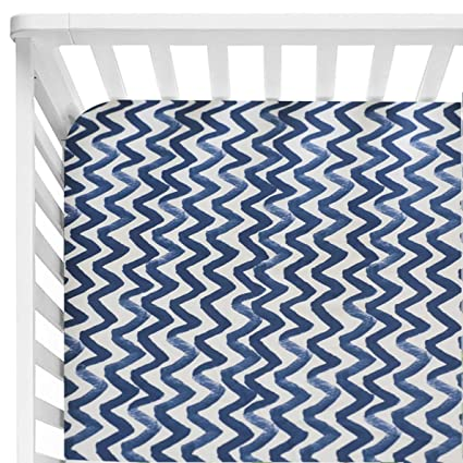 Aqua Floral Sahaler Baby Floral Fitted Crib Sheet for Boy and Girl Toddler Bed Mattresses fits Standard Crib Mattress 28x52