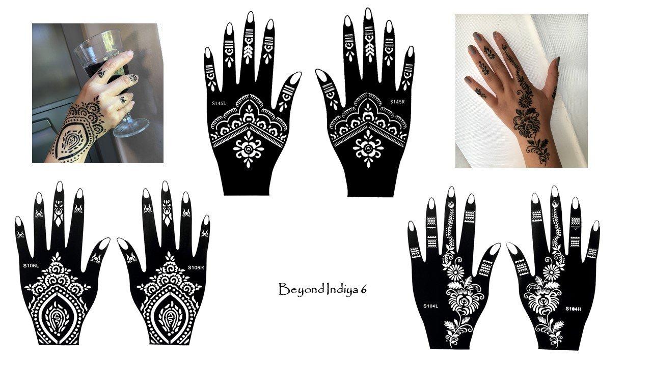 Tattoo Stencil 6pezzi set per le mani per uso singolo Indiya 6 Beyond