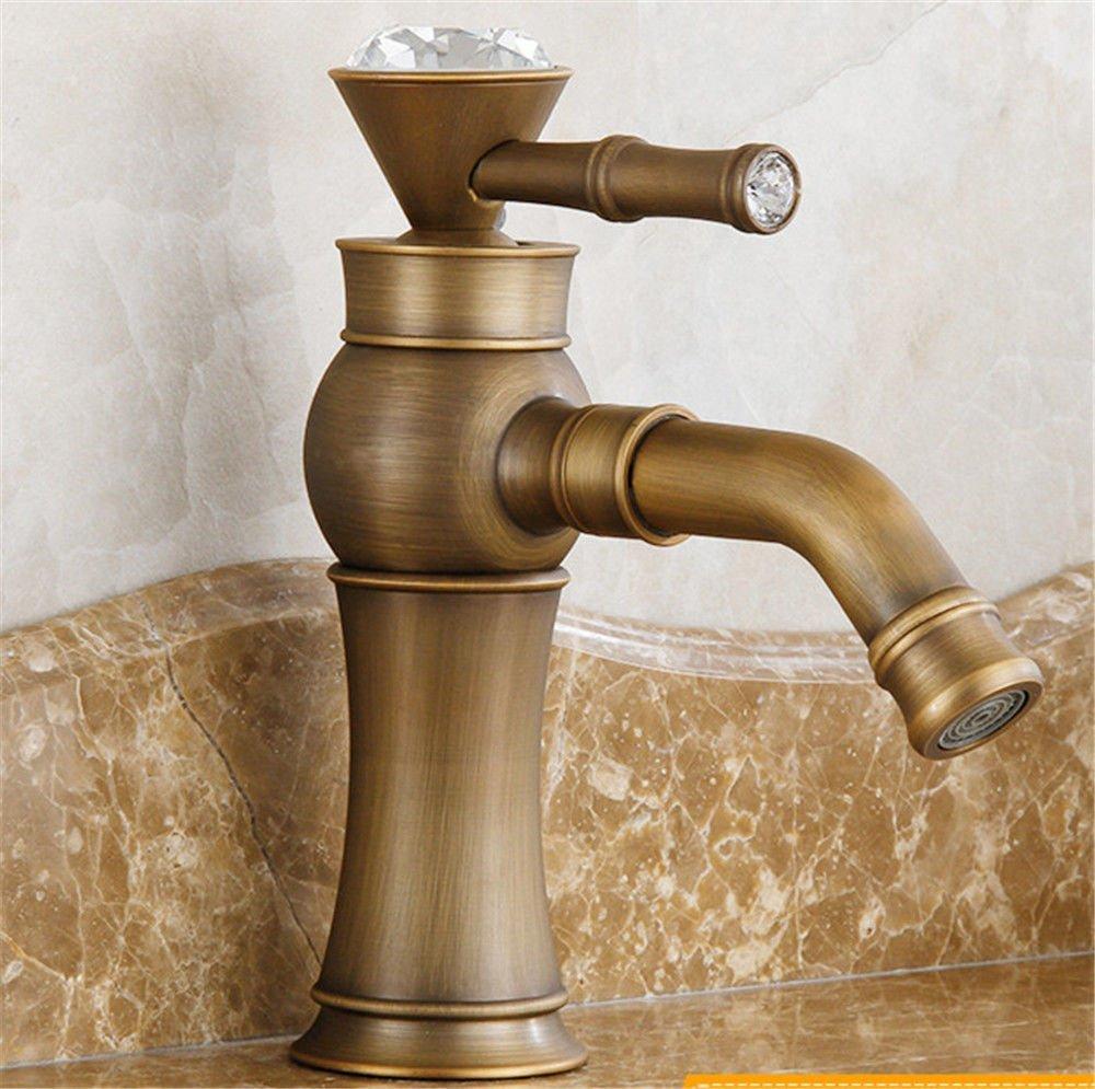 Gyps Faucet Basin Mixer Tap Waterfall Faucet Antique Bathroom Mixer Bar Mixer Shower Set Tap antique bathroom faucet All copper arc basin faucet antique table basin table basin mixer art basin faucet