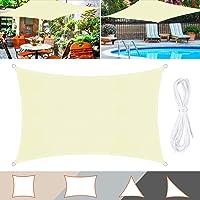 TedGem Zonnezeil, zonnezeil, waterdicht, zonwering, balkon, zonnezeil, gemaakt van hoogwaardig polyester, 160 g/m², voor…