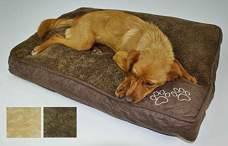 Casatessile Cuscinoso, Cama para Perros en Varios tamaños - Beige, Pequeno