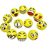 Emoji Face Squeeze Stress Balls, Finger Exercise/Stress Relief Toys, 12pcs