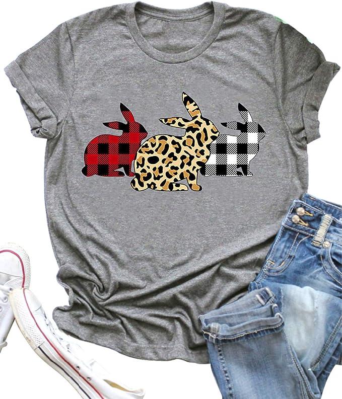 Funny Easter Egg Hunt Racerback Tank Women/'s Cute Rabbits With Leopard Cheetah Animal Print Design Top