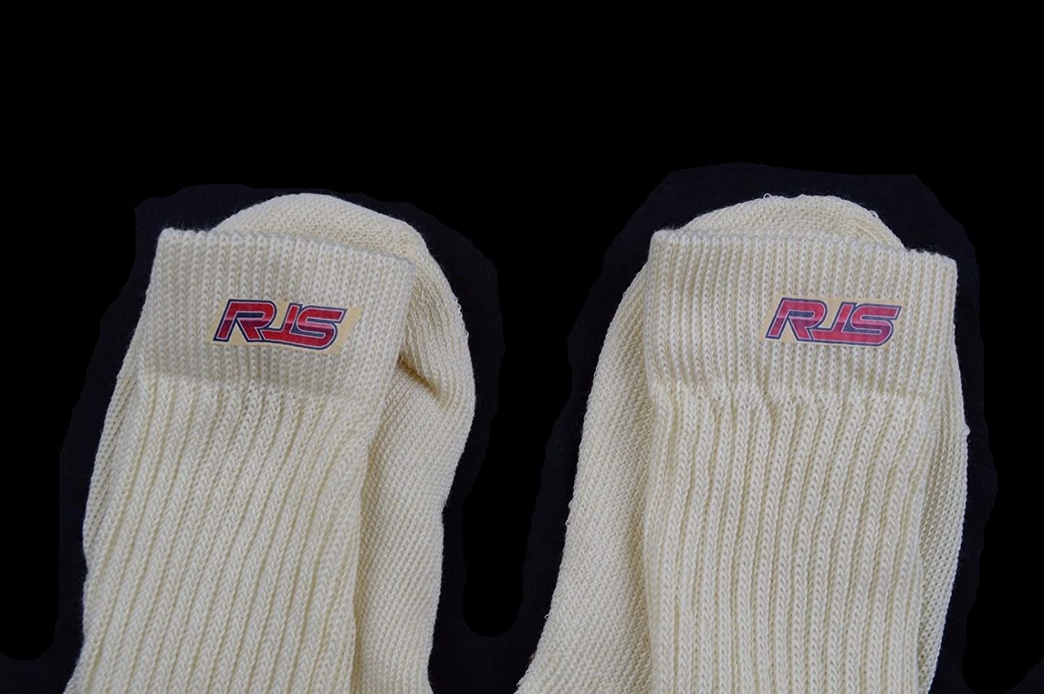 Racing Socks SFI 3.3 Approved White Underwear Socks Nomex RJS Racing Size Large