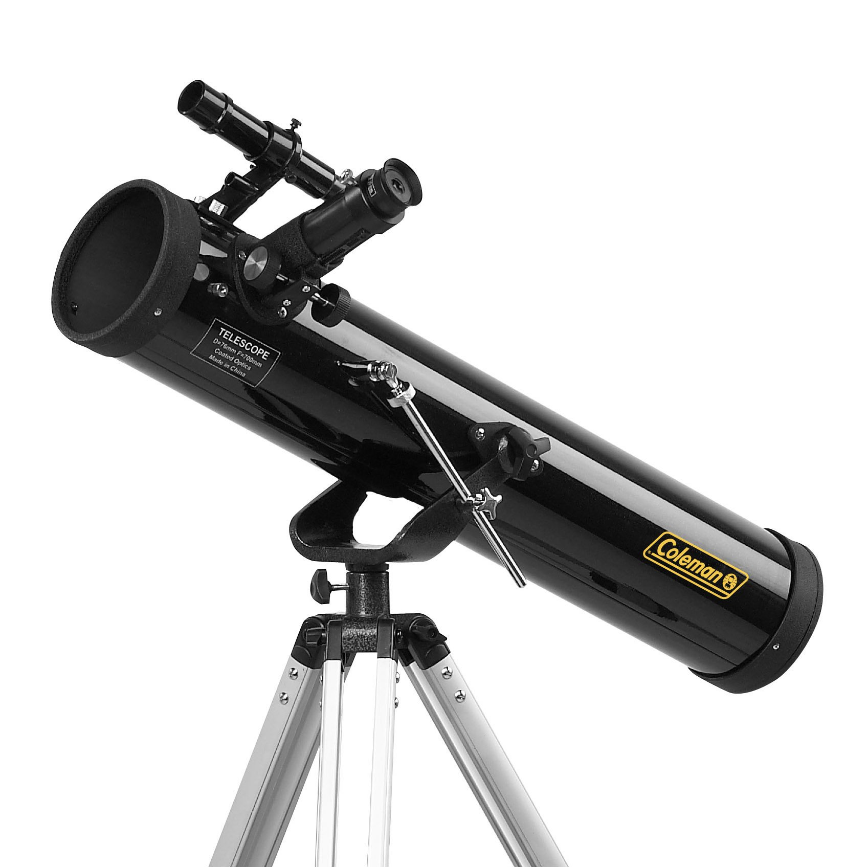 Coleman C767K AstroWatch 700x76 Reflector Telescope Kit with Tripod, Software and Hard Plastic Carrying Case (Black) by Coleman