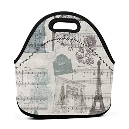13d6b4d5e4d6 Amazon.com: Reusable Lunch Bags Paris Stroll_444 ART OF LUNCH ...
