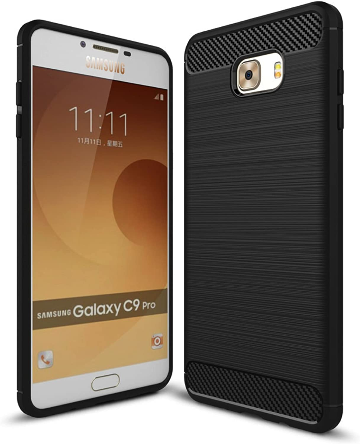 Golden Sand‰ã¢ Rugged Armor Case for Samsung Galaxy C9Pro Mobile Phone: Amazon.es: Electrónica