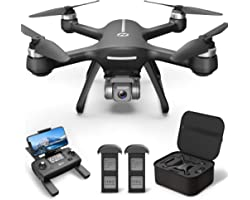 Holy Stone HS700E 4K UHD Drone with EIS Anti Shake 130°FOV Camera for Adults, GPS Quadcopter with 5GHz FPV Transmission, Brus