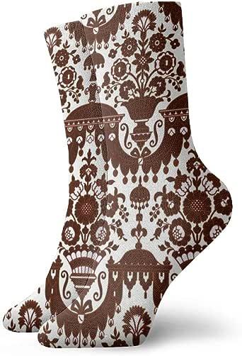 Helen vi Rococo 2d_1778 - Calcetines de algodón para mujer, 100% antideslizantes, talla única: Amazon.es: Ropa y accesorios