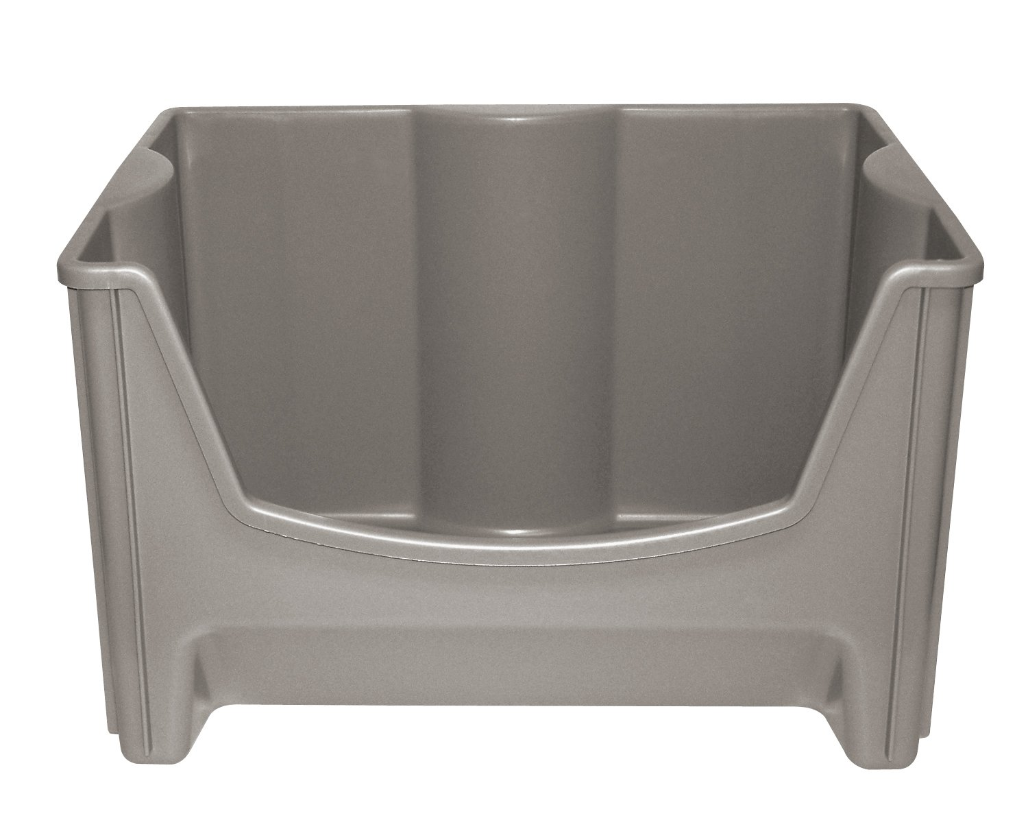 Amazon.com: United Solutions SB0016 Taupe Plastic Stacking Storage Bin   Large  Stacking/Nesting/Organizing Plastic Box In Taupe: Home U0026 Kitchen