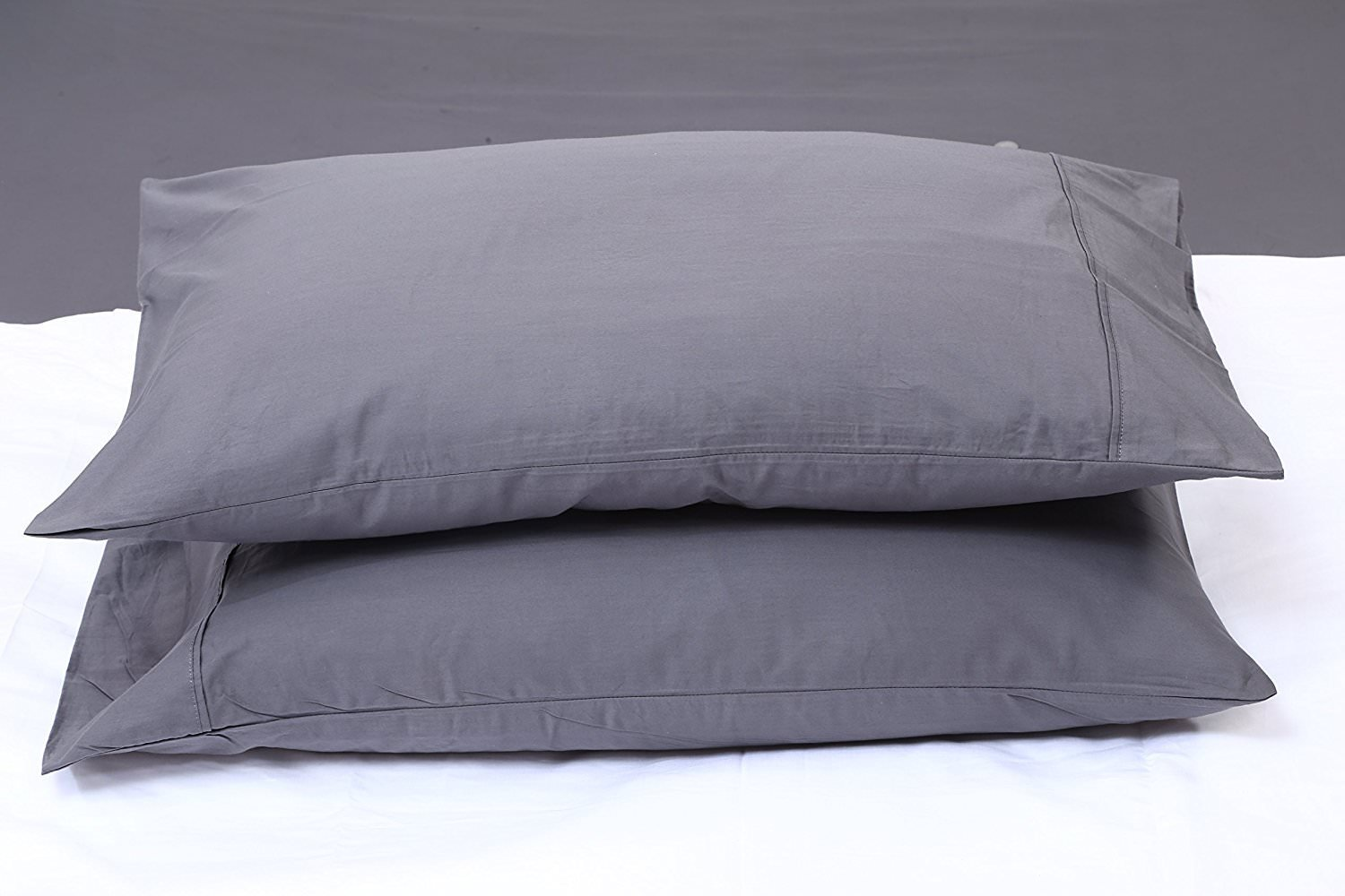 Rajlinen Ultra Soft Cozy 100% Percale Cotton 4 PCs Bed Sheet Set - 400 Thread Count 15 inch Deep Pocket - Extremely Smooth Stronger Durable Quality Bedding (Dark Grey Solid,Twin-XL)