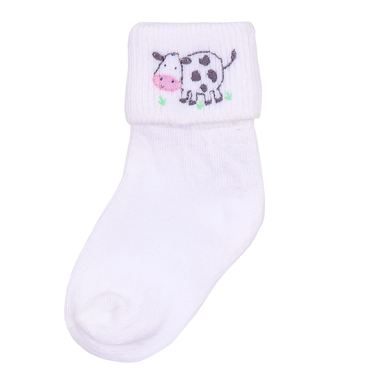 Magnolia Baby Baby Boy Down at the Farm Embroidered Sock Blue