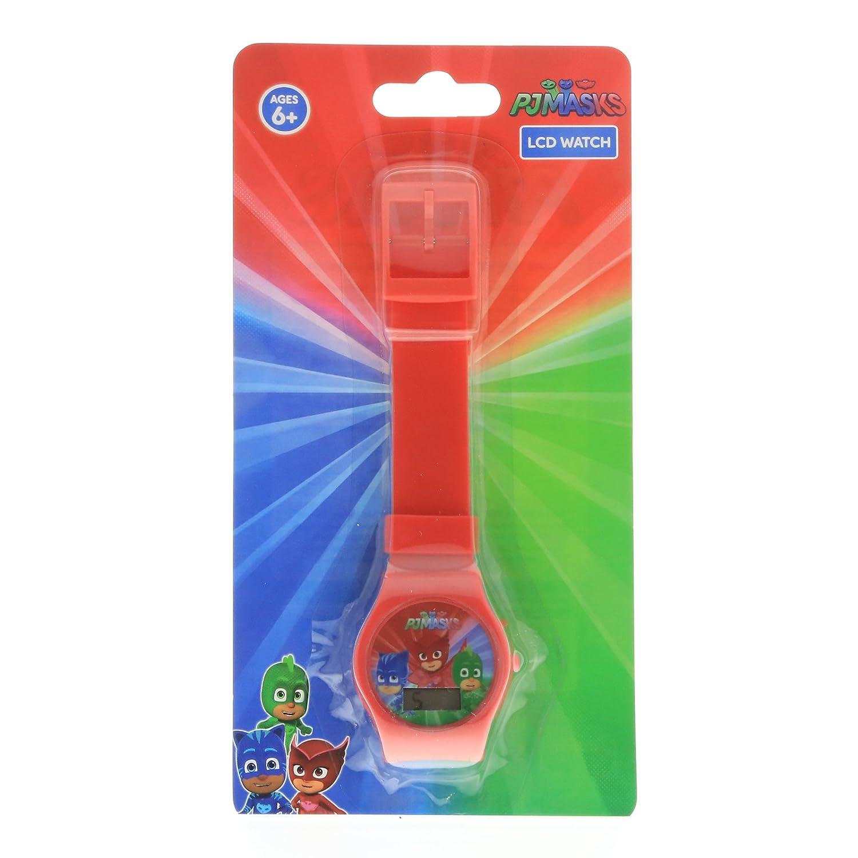 Amazon.com: PJ Masks Boys LCD Wrist Watch Digital Style Adjustable Strap - Red: Watches