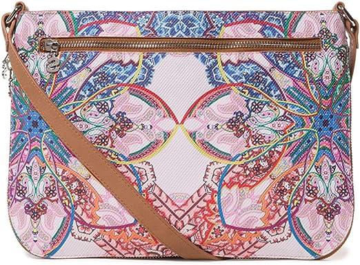 Desigual - Bag Mexican Cards Molina Women, Bolsos bandolera Mujer, Azul (Azul Agua), 2x23x30.5 cm (B x H T): Amazon.es: Zapatos y complementos