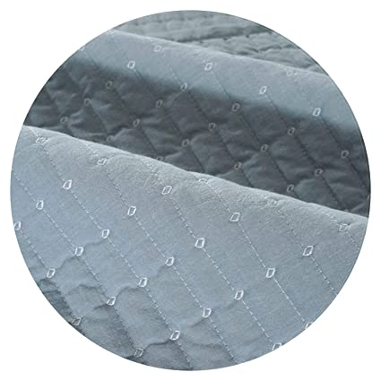 Amazon.com: Modern Style Khaki Grey Plaid Quilted Sofa Cover ...