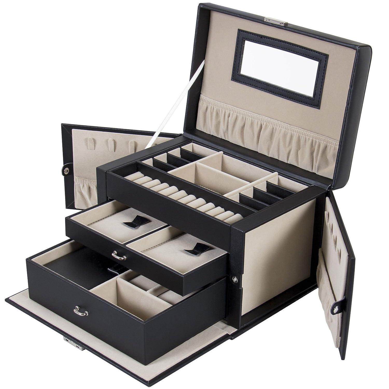 La Bovaレザージュエリーボックス、腕時計トラベルケース、キーオーガナイザー B0776CPX7Y
