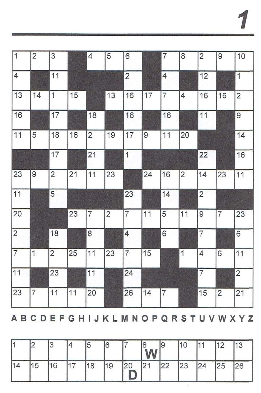 photo relating to Codeword Puzzles Printable called Simon Shukers Code-Cracker - Quantity Just one: Simon Shuker